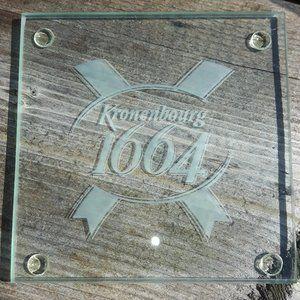 Kronenbourg Glass Coaster Lot Kronenbourg 1664